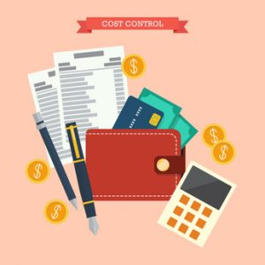Cost control concept. Flat style vector illustration